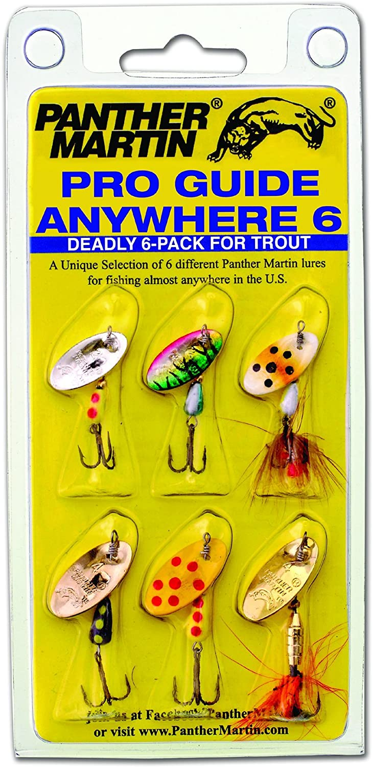 Panther Martin Pro Guide Anywhere 6 Pack | Spin | Ultralight | Fishing | Freshwater | Stream | River | Trout | Lure